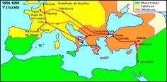 Primera cruzada. El papa Urbano II predicó en 1095 en los diferentes países Cristianos de la Europa Occidental la conquista de la llamada Tierra Santa.