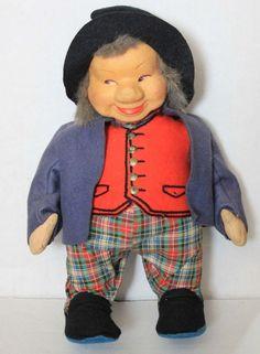 "Vintage Norwegian Ronnaug Petterssen doll cloth Nissefar gnome doll 12"" #Doll"