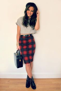 fall must-have: plaid pencil skirt // #targetsgoneglam ...