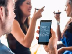 New Sony Xperia Z3 Mockup! Featuring People in Party. Try it here: https://placeit.net/#!/stages/celebration-with-xperia-z3