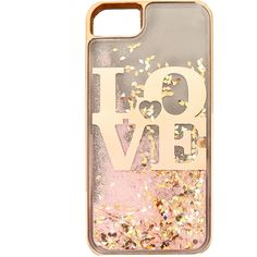 Love Liquid Filled Phone Case | Claire's ❤ liked on Polyvore featuring accessories, tech accessories and phone