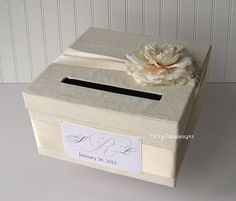 Custom Wedding Card Box Money Holder By Laceyclairedesigns 74 00