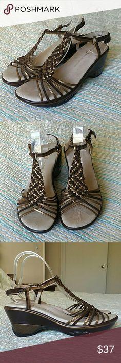 JAMBU ACAPULCO 7.5 M Leather Peep Toe Ankle Strap JAMBU ACAPULCO 7.5 M Leather Peep Toe Ankle Strap Sport Wedge Sandal J-41 Jambu Shoes Sandals