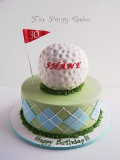 Shane's Golf Cake - Cake by Tea Party Cakes