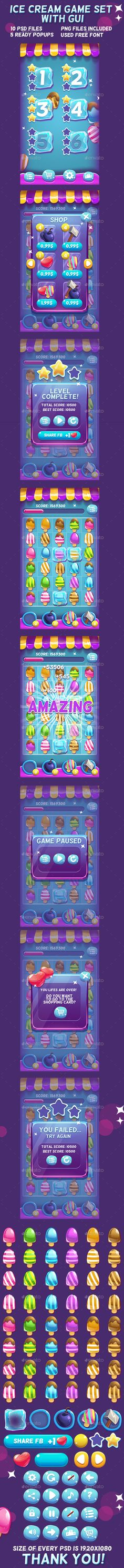 Ice Cream Game Set with UI