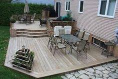 Image result for 2 level deck plans