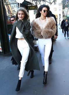 Kendall Jenner and Gigi Hadid in Paris