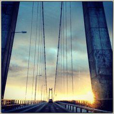 Bridge in Sunnhordland - Norway. Trekantsambandet.