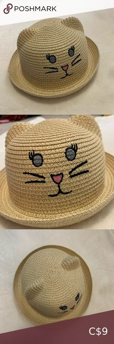 Kid's Hat paper hat by Mountain Warehouse Kids Little kitty face and ears Perfect condition Freaking adorable Perfect add-on for your kid if you are buying something for yourself! Little Kitty, Kids Hats, Warehouse, Ears, Kids Shop, Crochet Hats, Mountain, Best Deals, Children