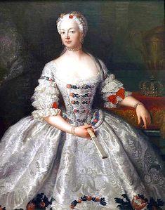 1755 Princess Elisabeth Christine of Brunswick-Bevern by Antoine Pesne (Deutsche Historisches Museum, Berlin)