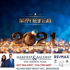 """Hardeep & Baldeep Sekhon on Instagram: """"Wishing Everyone a New Year blessed with health, wealth & happiness. Happy new year 2021✨🥂🎊⠀ ⠀ ⠀ 💎Thinking of Selling or Buying? Call Us…"""" Happy New Year, Wealth, Wish, Blessed, Happiness, Real Estate, Movies, Movie Posters, Instagram"""
