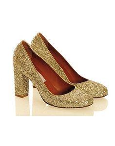 Lanvin glitter pumps