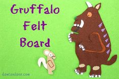 The Gruffalo Felt Board Activity on damsonlane.com