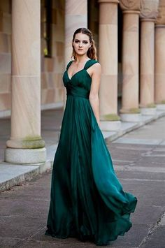 emerald green chiffon bridesmaid dresses 2016 » My Dresses Reviews