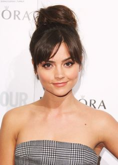 Jenna Louise Coleman. Goodness shes pretty. I have to say shes my favorite companion yet. Sorry Karen Gillan.