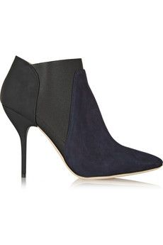 Jimmy Choo Deluxe nubuck and leather ankle boots | NET-A-PORTER