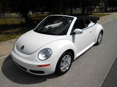 2009 Volkswagen New Beetle L White convertible http://www.iseecars.com/used-cars/used-volkswagen-new-beetle-for-sale