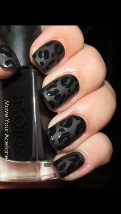 Monochromatic Leopard spots --Love this idea!  Designing with matte and gloss instead of color.  Texturally gorgeous!