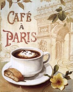Cafe in Europe II by Lisa Audit art print