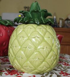 Vintage Cemar of California PINEAPPLE cookie jar ***RARE***  (sold for $295 on eBay)