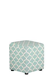 CUBE MOROCCAN - I cant get enough of this print - cube ottomans are so handy to have dotted around the house - especially when extra guests arrive!