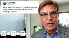 Aaron Sorkin Answers Screenwriting Questions From Twitter | Tech Support... Free Stories, Burning Questions, Tech Support, Screenwriting, Writer, Youtube, Filmmaking, Movie, Content