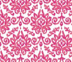 Pink Ikat Damask fabric by patternbay_prints on Spoonflower - custom fabric