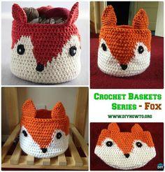 DIY Crochet Fox Storage Basket Free Pattern