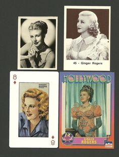 Trading Cards of ginger rogers! Hollywood Pictures, Old Hollywood, Ginger Rogers Movies, She Movie, Trading Cards, Movie Stars, Singing, Collection, Collector Cards