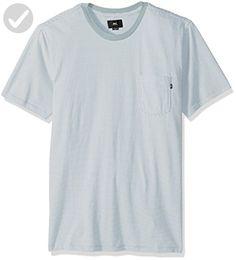 OBEY Men's Wisemaker Regular Fit Short Sleeve Pocket Tee, Light Blue/Multi, X-LARGE - Mens world (*Amazon Partner-Link)