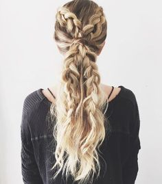 A stunning dutch braid ponytail