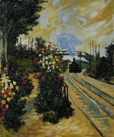 Arriving at Montgeron - Claude Monet 1876 Impressionism