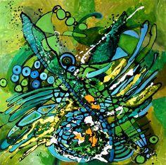 Dansul libelulei  oil/canvas  size 90cmx90cm  signed Bissinger 2013 Canvas Size, Abstract, Night, Artwork, Oil, Painting, Art Work, Work Of Art, Auguste Rodin Artwork