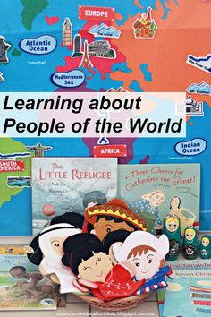 Learning about People and Cultures of the World. Hands-on resources for learning about people and cultures through play from Suzie's Home Education Ideas