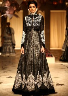 Rohit Bal at Indian Bridal Fashion Week 2013 Mumbai - an amazing mixing of traditional Indian style with the Elizabethan era