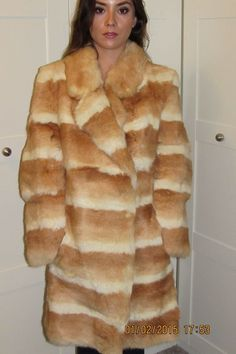 a8908b06df4 Vintage real coney fur coat size 10 12 Rabbit Fur