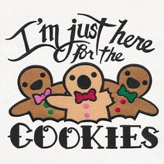 Naughty & Spice - Here for the Cookies | Urban Threads: Unique and Awesome Embroidery Designs