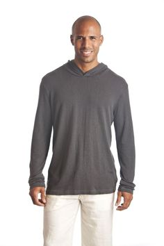 Men's Lightweight Hoodie - 60 USD - Stylish, lightweight knit hoodie made of hemp/tencil blend.