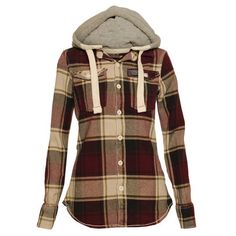 Thermal hooded flannel.