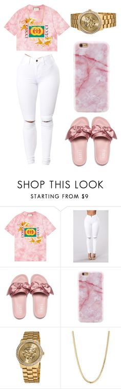 """Gucci on my...."" by kalienajb on Polyvore featuring Gucci, Puma, Vernier and Bianca Pratt"