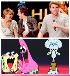 LOL! I love how Jennifer Lawrence and Josh Hutcherson interact!