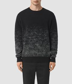 Mens Korttan Crew Jumper (Black) - product_image_alt_text_1