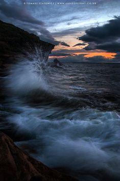 Crashing waves, Burghead, Scotland