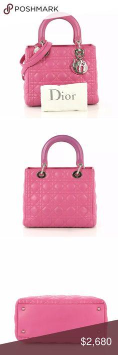 a5e5ff2e6d0 Authentic Lady Dior Bag This authentic Christian Dior Lady Dior Handbag  Cannage Quilt Lambskin Medium,
