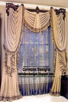 10 Top luxury drapes curtain designs ideas and luxury drapery designs interiors, this luxury drapes curtains designed of beautiful curtain fabric and colors, unique drapes curtains interior designs ideas for luxury interiors Unique Curtains, Luxury Curtains, Elegant Curtains, Home Curtains, Beautiful Curtains, Modern Curtains, Custom Drapes, French Curtains, Green Curtains