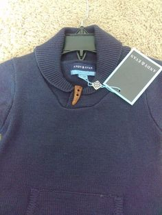 0c0bbf5ec8a9 Extra Off Coupon So Cheap Andy And Evan Navy blue Toggle Sweater Romper  Months