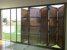 Alumisert Murs Mobiles, Hurricane Shutters, Balcony Doors, House Shutters, Gate House, Timber Cladding, Grill Design, Folding Doors, Facade Design
