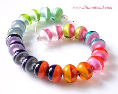 Infinite Horizons - A Colorful Strand of Glass Beads