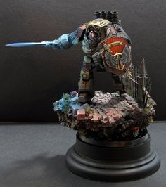 Warhammer 40k, Space Marines. Really cool Blood Angels Contemptor Pattern Dreadnought!