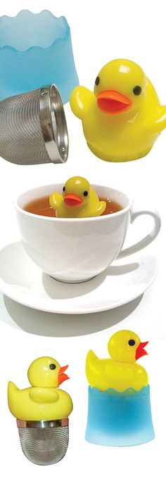 Duck tea infuser // so cute! #product_design